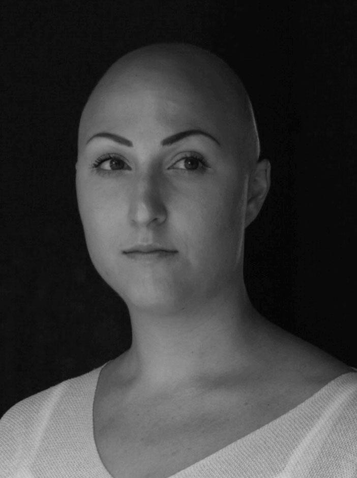 Lilian Botvalde Porträtt i svart-vitt